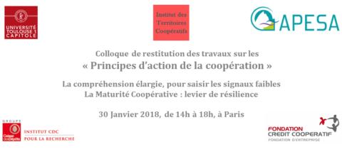 Principes d'action de la coopération : les actes du colloque