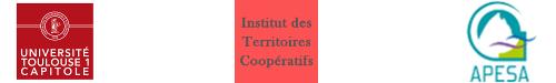 Logo de l'Université de Toulouse, de l'InsTerCoop et d'APESA